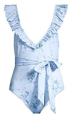 9c2cf7569299 LoveShackFancy Women s Opal Ruffle One-Piece Swimsuit