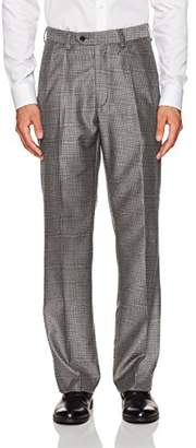Steve Harvey Men's Plaid Regular Fit Suit Seperate Pant