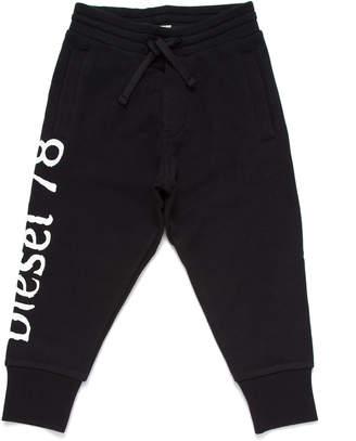Diesel (ディーゼル) - DIESEL Kids ロゴプリント ドローコード スウェット パンツ ブラック 4y