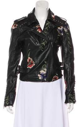 Blank NYC Embroidered Moto Jacket w/ Tags