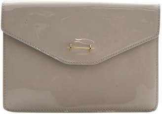 M2Malletier Beige Patent leather Clutch Bag