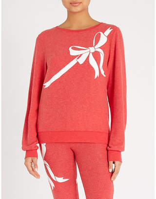 Wildfox Couture Gift Wrapped cotton-jersey sweatshirt