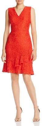 Sam Edelman Lace Ruffled-Hem Dress