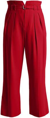 RED Valentino High-rise notched-waist trousers