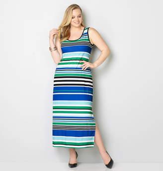 Avenue Multi Stripe Maxi Dress