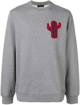 Diesel Black Gold boxy sweatshirt with cactus patch