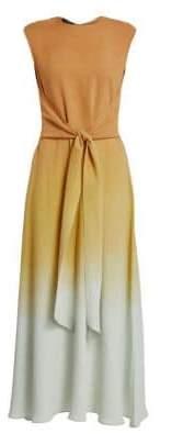 Lafayette 148 New York Winslet Prism Ombré Tie-Front Maxi Dress