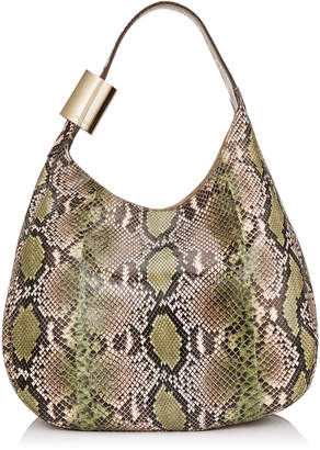 Jimmy Choo STEVIE Lime and Rosewater Dégradé Painted Python Shoulder Bag