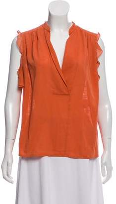 Chloé Ruffle-Accented Sleeveless Top