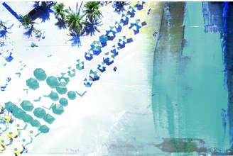 Parvez Taj Umbrella Blues Canvas Wall Art