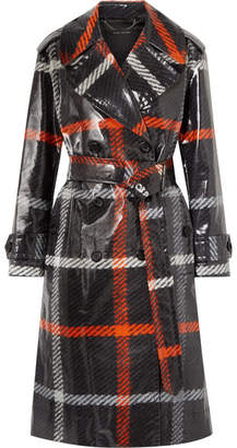 Marc Jacobs Checked Coated-cotton Trench Coat - Charcoal