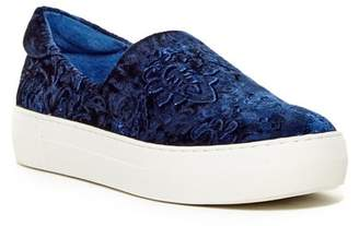 J/Slides Angelica Crushed Velvet Slip-On Sneaker