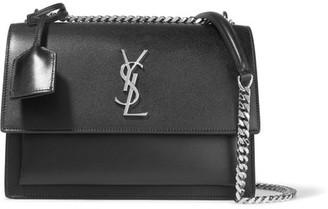 Saint Laurent - Sunset Medium Leather Shoulder Bag - Black $2,150 thestylecure.com