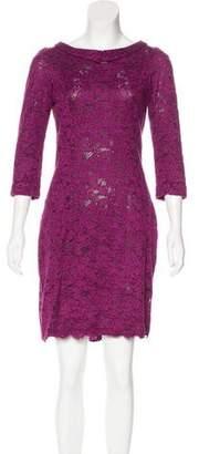 L'Wren Scott Lace Long Sleeve Dress