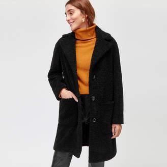 Warehouse Teddy Bear Faux Fur Coat