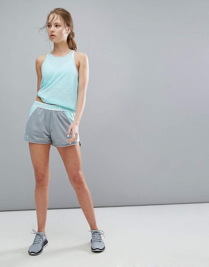 – Play Up – Graue Shorts aus Webstoff
