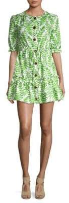 Saloni Billie Flounce Mini Dress