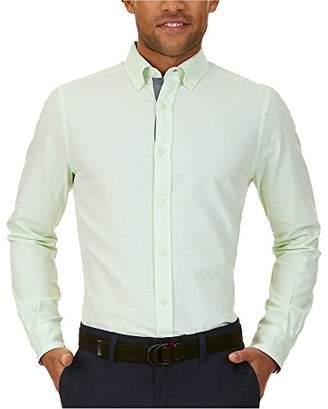 Nautica Men's Long Sleeve Classic Fit Horizontal Stripe Button Down Shirt