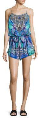 Camilla Silk Embellished Blouson Romper $400 thestylecure.com