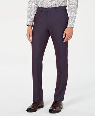 Bar III Men's Slim-Fit Solid Iridescent Suit Pants, Created for Macy's