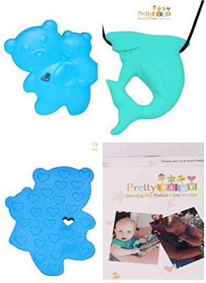 Vulli Pretty Baby Baby Teether Toy for Baby Gifts, Baby Shower Gifts. Baby Teething Necklace For Pain Relief or Money Back. 100% Safe Soft Chewy Silicone Teether Necklace - Better Gift Than Sophie Giraffe Teether