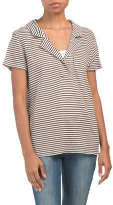 Raffi Linen Striped Collar Shirt