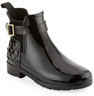 Hunter Refined Gloss Quilted Chelsea Boot