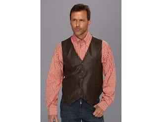 Scully Lamb Leather Snap Front Vest Men's Vest