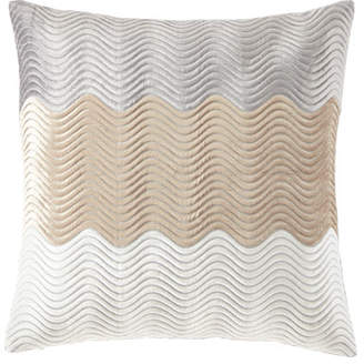 "Callisto Home Velvet Wave Pillow, 22""Sq."