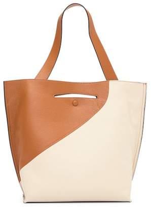Sondra Roberts Leather Cut-Out Reversible Shoulder Bag
