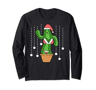 Merry Christmas Cactus Long Sleeve T-Shirt Funny & Sexy 2018