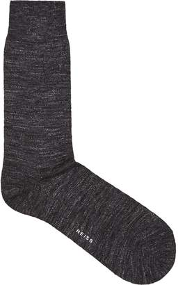 Reiss Our last order date for Christmas has now passed PONTI-MARL SOCK MARL TEXTURED SOCKS Charcoal
