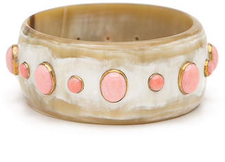 Ashley Pittman Light Horn Bangle w/ Coral