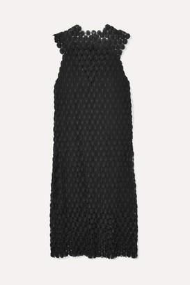 Paco Rabanne Crocheted Lace Midi Dress - Black
