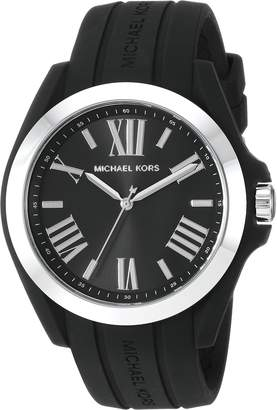 Michael Kors Women's 'Bradshaw' Quartz Plastic and Silicone Casual Watch, Color (Model: MK2729)