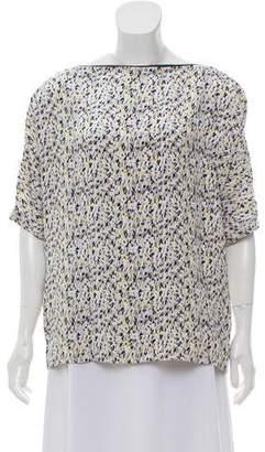 Yigal Azrouel Silk Short Sleeve Top