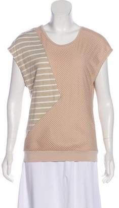 Timo Weiland Mesh-Accented Striped Top