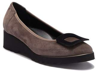 Cordani Aggie Suede Leather Buckle Flat