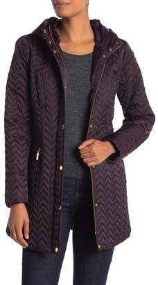 Laundry by Shelli Segal Quilted Belted Trench Coat