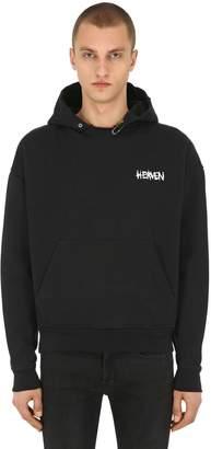 The Kooples Printed Cotton Jersey Sweatshirt Hoodie