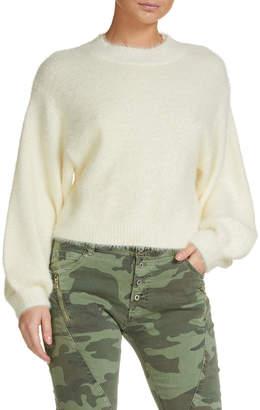 Elan International White Angora Sweater