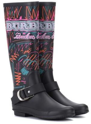 Burberry Doodle printed rubber boots