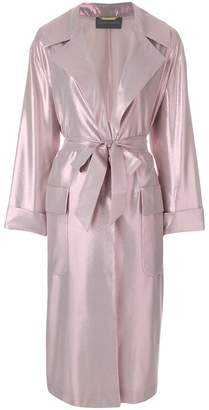 Alberta Ferretti shimmery fitted coat