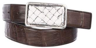 Bottega Veneta Alligator Buckle Belt