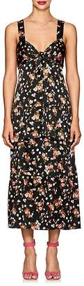 A.L.C. Women's Cruz Floral Stretch-Silk Knotted Dress