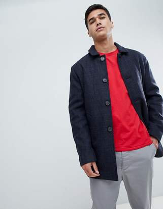 Selected Homme Wool Check Trench Coat