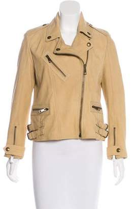 Burberry Leather Moto Jacket w/ Tags