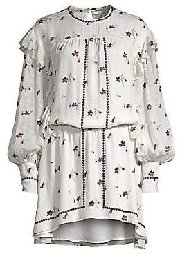 Joie Women's Owena Studded Peasant Mini Dress