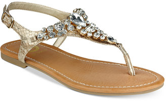 G by Guess Londeen Embellished Flat Sandals Women's Shoes $39 thestylecure.com