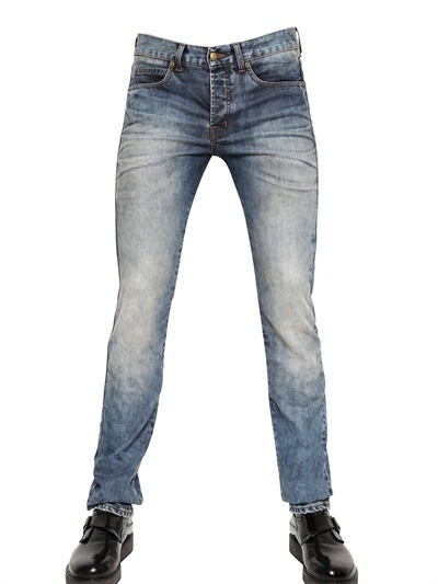 McQ 17cm Washed Denim Skinny Fit Jeans